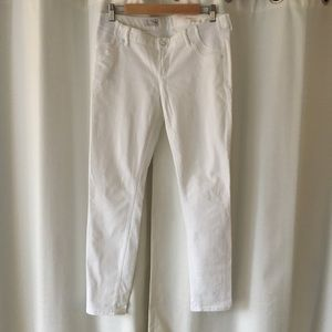 Gap Maternity white jeans